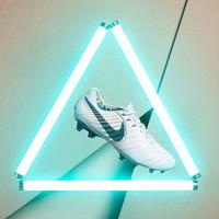 Sepatu Bola Soccer Original Nike Tiempo Legend 7 Elite FG White Blue