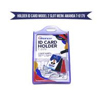 ID Card Holder Model 2 Slot Merk AMANDA T-017V