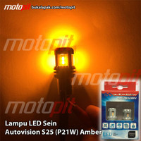OOO Autovision Led S25 Sein Sign Amber Riting Kuning Sen P21W