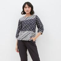 Renata Top GA BATIK Blouse Batik Modern Baju Batik Wanita Lengan