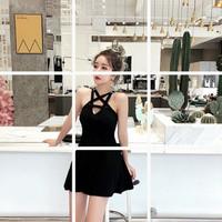 BAJU TERUSAN / DRESS 02 / DRESS KOREA 02 / DRESS GOTHIC BLACK