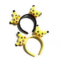 Bando Rambut Motif Kartu Pikachu Lucu