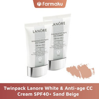 Twin Pack Lanore White & Anti-age CC Cream SPF40+ Sand Beige