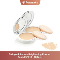 Twin Pack Lanore Brightening Powder Found SPF10+ Naturel
