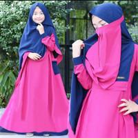 Baju Gamis Anak Shaliha Syari 9-12 thn (Bonus Jilbab & cadar) Baju