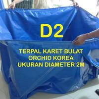 Kolam Terpal Karet Bulat Bundar Diameter D2 - Kolam Ikan Lele Bioflok
