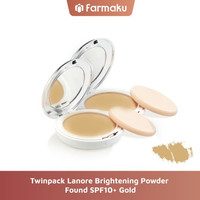 Twin Pack Lanore Brightening Powder Found SPF10+ Gold