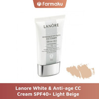 Lanore White & Anti Age CC Cream SPF40+ Light Beige