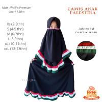 Dijual Baju Gamis Palestina Anak motif Ruflle free cadar tali