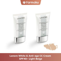 Twin Pack Lanore White & Anti Age CC Cream SPF40+ Light Beige