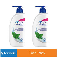 Twin Pack Head & Shoulders Shampoo Cool Menthol 680 ml