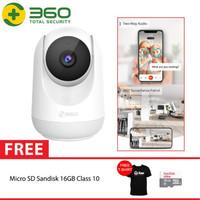 QIHOO D806 360 Smart IP Camera CCTV WIFI Night Vision Pan Tilt + 16GB