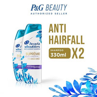 Twin Pack Head & Shoulders Shampoo Supreme Anti Hair Fall 330 ml