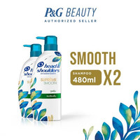 Twin Pack Head & Shoulders Shampoo Supreme Smooth 480 ml
