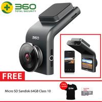 QIHOO G300 360 Dash Camera 1080P Video Night Vision Wide Angle + 64GB
