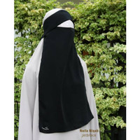 PROMO S M L XL Naila Niqab Bandana Flap Poni Khadijah Indonesia dhiyas