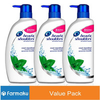 Value Pack Head & Shoulders Shampoo Cool Menthol 400 ml