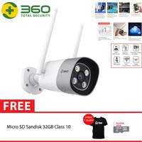 QIHOO D801 360 Smart IP Camera CCTV WIFI Outdoor Waterproof + 32GB