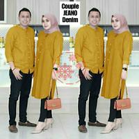 Baju Couple Jeano Couple Tunik Muslimah Model Casual Terkini