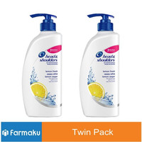 Twin Pack Head & Shoulders Shampoo Lemon Fresh 680 ml