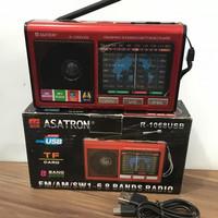 Radio Asatron R1068USB 8 Band FM AM SW USB Memori TF 1086 Portable