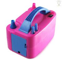 Pompa Peniup Balon Elektrik Portable Nozzle Ganda Warna Biru Untuk