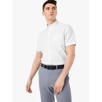 MARKS & SPENCER - Kemeja Pria -Pure Cotton Oxford Shirt-White