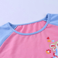 90s E-girl Y2K floral graphic print front patchwork pink T-shirt