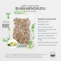 BUAH MENGKUDU 100 Kapsul Herbal Anti Aging Wasir Asam Urat Borok Tumor