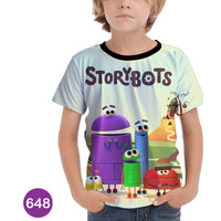Baju StoryBots Anak Kaos Kartun Series #648