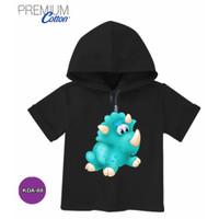 Kaos Hoodie Anak Baju dinosaurus Cute Katun Original #KDA-88