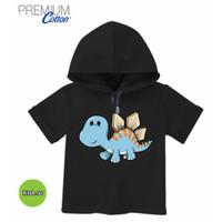 Kaos Hoodie Anak Baju dinosaurus Cute Katun Original #KDA-91
