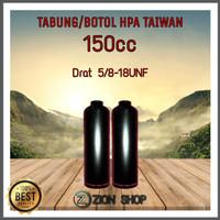 Tabung / Botol HPA taiwan (150cc)/ Bocap pcp /Drat 5/8-18UNF Murah