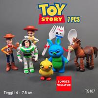 Set figure hiasan Kue Toy story Toystory forky buzz woddy 7 karakter