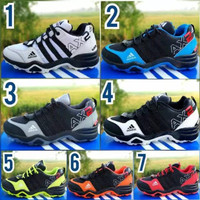 Sepatu Anak Sekolah Olahraga Keren Adidas AX2 Biru Putih Merah Sporty