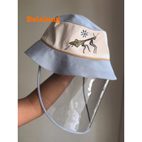 Attachable Embroidery. Hat with Topi Arkamaya Protection cover perlind
