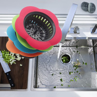 Sink Strainer Filter Drain Plug Cover Anti-blocking Residue Stopper