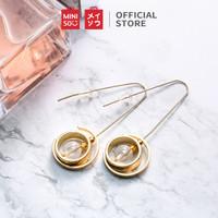 MINISO Anting Wanita Fashion Simple Earrings Liontin Bulat Cincin
