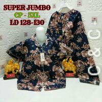 GN309 baju tdr piyama super jumbo 5XL ld.128-130