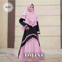 IM787 Gamis syar i anak usia 9 - 12 tahun Set Hijab terbaru baju musli