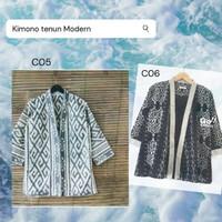 Promo Baju Kimono atasan Pria bahan full tenun modern Diskon