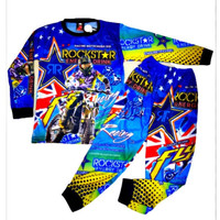 Promo baju kaos stelan anak motor cross trail