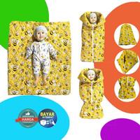 Sleeping Bag Baby Multi Fungsi / Selimut Topi / bad cover Bayi
