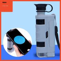 Mikroskop Saku Genggam Mini 80x-120x Pembesaran