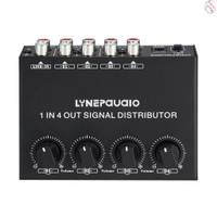 1-in-4-out Amplifier Audio Stereo Distributor 1 Channel Input Output