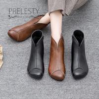 Sepatu Boots Ankle Wanita Bahan Kulit Asli High Quality Untuk Musim