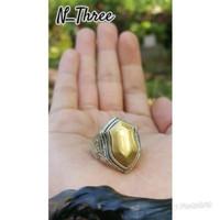 Cincin Batu Akik Natural Pancadatu atau badar emas natural kekinian