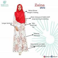 Baju Gamis Dress Muslimah Pesta Busui Menyusui Hamil Friendly ZAINA