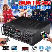 2000W Bluetooth Sistem Power Amplifier Suara Audio Stereo Receiver