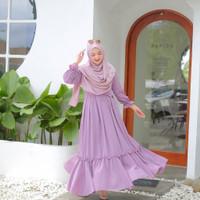 TRENDY Azura Dress Gamis Muslim Wanita l Dres Lilac Maxy NEW